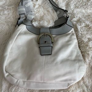 Authentic Coach White and Gray Hobo Bag - NWT
